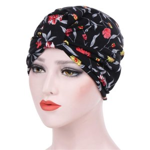 Índia cap chapéu islâmico turbante muçulmano Imprimir Mulheres Cotton Respire Hat Mulheres Hijabs Turban Elastic Tecido Cabeça Cap cachecol 4,11
