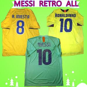 Barca Barcelona jersey Messi Trikot 2008 2009 Retro Fußball-Trikot RONALDO 1996 1997 2005 2006 HENRY RONALDINHO klassischer Weinlese-Fußballhemd 2010 2011 grün weg