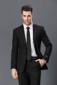 Popular Two Buttons Groomsmen Notch Lapel Groom Tuxedos Groomsmen Best Man Suit Mens Wedding Suits Bridegroom (Jacket+Pants+Tie) B241