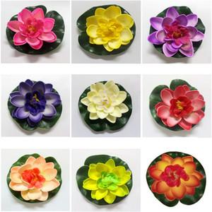 10cm Real Touch Fleurs Artificielles En Mousse De Lotus Blanc Water Lily Plantes Flottantes Pour Jardin De Mariage EVA Décoration