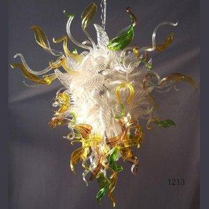 Classique de luxe de soirée de mariage Décoration d'intérieur Moderne Disponible Déco Fleur Blown Glass Ceiling Pendant Chandelier Lumière