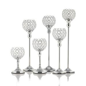 Nouveau Cristal Bougeoirs En Métal Bougeoir En Verre Stand pour Mariage Table À Manger Centres De Table De Vacances Décoration De La Maison