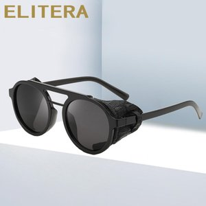 Elitera Steampunk Sunglasses Luxury Retro Punk Ronud Sun Glasses Goggle For Women Men New 2020 Design Lentes De Sol Hombre oIZyP