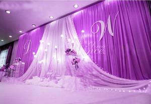3*6m Wedding Party Stage Celebration Background Satin Curtain Drape Pillar Ceiling Backdrop Marriage decoration Veil