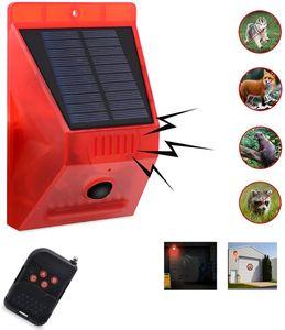 Solar Strobe Light with Remote Controller Solar Strobe Light with Motion Detector Solar Alarm Light 129db Sound Security Siren