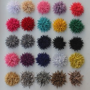 40pcs 9cm Multilayer Fabric clip fiori per le ragazze accessori dei capelli, dei capelli della ragazza della clip Fiori, Hairclip fiori per i bambini 8 colori da scegliere