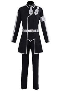 Sword Art Online Alicization Cosplay Kirigaya Kazuto Kirito Costume SAO Halloween Full Set Suit Jacket