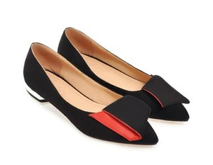2020 Spring and Autumn with New style fashion Low heel pointed end Suede Women's shoes@MQWBH627