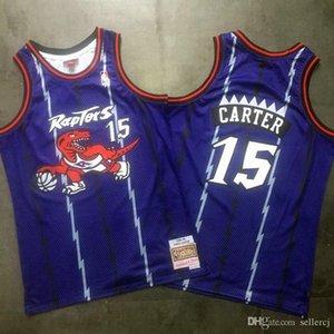 MensRaptors 15 Vince Carter Authentic Purple Swingman Jersey Mitchell & Ness Hardwoods Classics Dense Mesh Basketball Jersey