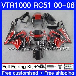 Kit per HONDA VTR1000 RC51 SP1 SP2 00 01 02 03 04 05 06 257HM14 RTV1000 VTR 1000 2000 2001 2002 2003 2004 2005 2006 Carena industriale nero