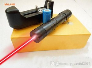 650nm 10000m Red laser pointer burst balloon Strong handheld laser flashlights out power +Charger+gift Box