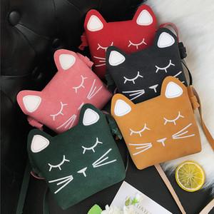아이 핸드백 어깨에 매는 가방 5 색 고양이 핸드백 3D 동물 인쇄 된 가방 귀여운 고양이 소녀 메신저 가방 디자이너 지갑 JY264