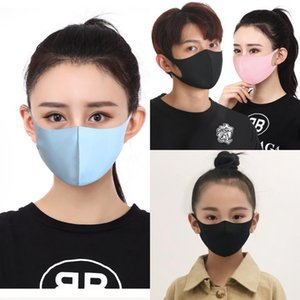Ice Silk Mask Kids Adults Dustproof Washable Reusable Face Mouth Cover Outdoor Sports Face Masks with opp Bag Package OOA8176