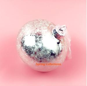 2pcs / lot 80mm verre argent oignon arbre de Noël Décorations Boule Hanging ornements de boule de Noël pour le festival / home / parties