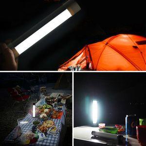 Светодиодная аварийная световая лампа для наружного перезаряжаемого портативного 3-уровневого регулируемой яркости USB зарядки SOS Mode Tube для наружного