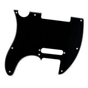 8 Hole Electric Guitar Pickguard for TLGuitar Parts, Celluloid Black