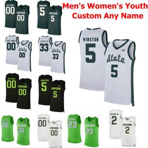 Michigan State Spartans Universidad MSU jerseys del baloncesto 44 Nick Ward Jersey 23 Xavier Tillman 0 Kyle Ahrens 11 Aaron Henry cosido Personalizar