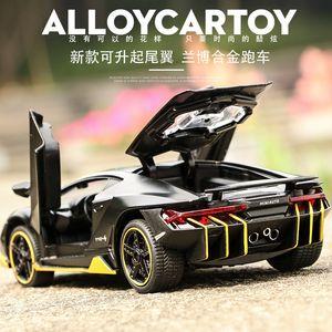 Scala 1:32 Lega Sports Car Diecast Model Suono Luce tirare indietro Auto giocattolo regalo caldo di compleanno dei bambini della rotella LP770 T200110