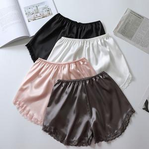 2019 Verão Lace Patchwork Fibra De Leite Shorts Calças Segurança Calças Curtas Mulheres Cueca Boxer Shorty Femme Segurança