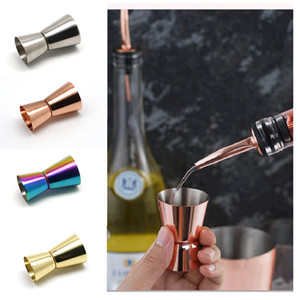 Misurino per vino in acciaio inox 15-30 ml 4 colori lucidati Coppa a doppia testa Barra multifunzione barra agitatore Tazza BH1673 ZX