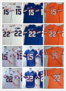Mens NCAA Florida Gators Tim Tebow Weinlese-Fußball-Trikots genäht # 22 Emmitt Smith Florida Gators Jersey S-3XL