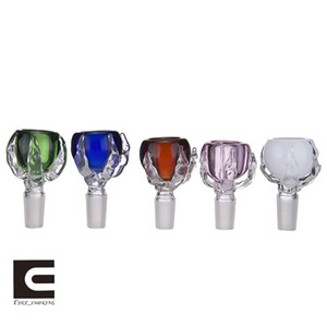 Colorful Dragon Claw Glass Bowl Glass Herb Holder With 14mm And 18mm Male Joint For Glass Bongs Water Pipes