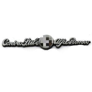 [Hot] Car Styling 8,8 * 1,5 centímetros de metal ALFA ROMEO Tronco Emblema traseiro do emblema laterais Logos Carros corpo etiqueta