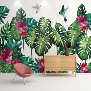 Custom Any Size Mural Wallpaper 3D Green Leaf Modern Simple Nordic Style Wall Painting Living Room TV Sofa Bedroom Wallpapers 3D