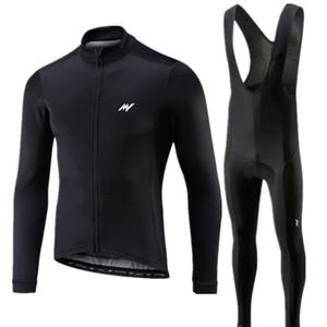 Morvelo uomini maniche Long 2018 Pro Cycling Team Jersey pantaloni Set vestiti di riciclaggio della bici della strada Jersey bicicletta copre i pantaloni Tute
