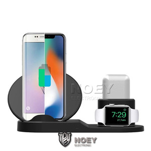 Caricabatterie wireless veloce per Apple Osservare 2 3 4 5 Airpods Pro Qi Wireless Charger Dock per iPhone Pro 11 XS MAX noey