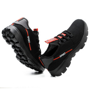 Deserto Survival Safety Shoes Aço Toe aço meados de placa anti-derrapante Anti-esmagando homens trabalham botas de trabalho # WL666