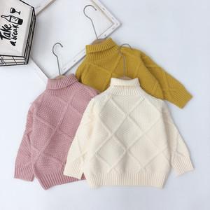 INS نوعية جديدة نمط بنات بنين محبوك سترة أزياء الشتاء الخريف الاطفال البلوز طفلة الملابس 1-6T