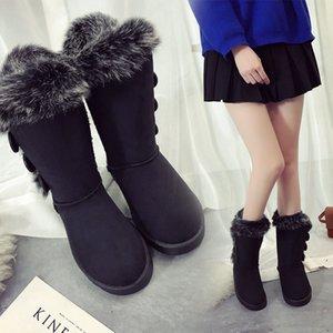 Scarpe Donna Neve Stivali Large Size alta classico tubo Spessa pile modelle Autunno Inverno Snow Boots Big cotone Stivali scarpe di qualità