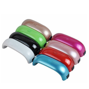 Mini-USB-9W 3 LED-UV-Nagel-Trockner Aushärtungslampe Maschine Gel-Nagellack Leistungsstarke UV-Lampen-Licht-Nagellack-Fast Dry Farben RRA2486