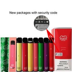 Os mais recentes Puff Plus em estoque dispositivo descartável Pod Starter Kit 550mAh Battery 3,2ml de alta qualidade cartucho Vape