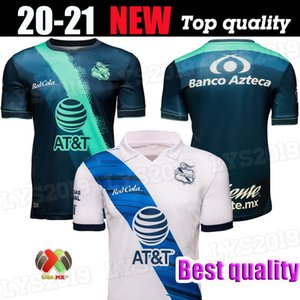 2020 2021 de futebol PUEBLA FC jerseys LIGA MX Início branco afastado pé camisas verde uniforme de futebol