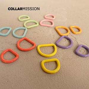 10pcs / porción anillo D de 20 mm y 25 mm correas de costura montañismo collar de perro de bricolaje bolsa de accesorios D-plateado en forma de hebilla de 7 colores