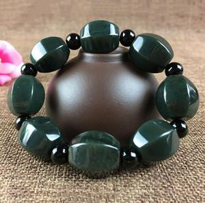 Factory Direct Natural Xinjiang Hetian Jade Sapphire New Large Prismatic Bracelet Sapphire Bracelet Wholesale Jade