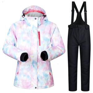 simple et double combinaison de ski ski féminin costume taille supplémentaire imperméable et épaisse combinaison de ski chaud moins 30 degrés