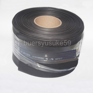 25M Diameter 120mm Flat Width 190mm Black Heat Shrinkable Tube Electrical Sleeving Cable Heat Shrink Tubing Wrap 2:1 Shrink Ratio Wholesale