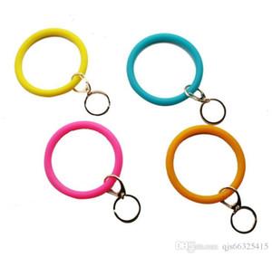 Bijoux en silicone Teething Keychain O Porteclés Cercle Bracelet Bracelet Bracelet Porte-clés, FoodKeychainBracelet clé RingFashion Keyring