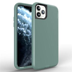 Iphone SE2 X 6 7 8 Plus için 3in1 Sıvı Silikon Kılıf iPhone 11 Pro XS Max XR Darbeye Robot telefon kılıfları