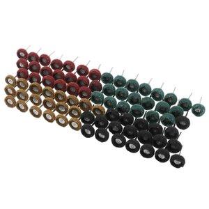 Fibra de nylon 80Pcs / Set Mini Escova Esfregão abrasivo rebolo lixar Cabeça de Polimento Polimento Roda 1 Inch 25mm Set
