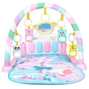 New Baby Pink tapis de jeu pour enfants Tapis Puzzle éducatif tapis avec clavier de piano et des animaux Mignon Tapis de jeu Baby Gym rampants Activité Mat Jouets