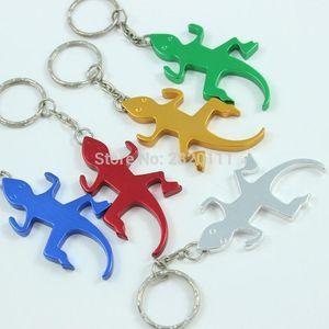 12 piezas Gecko lagarto abrebotellas llavero aleación de aluminio cerveza abridor promoción llavero regalo personalizar Logo envío de la gota libre