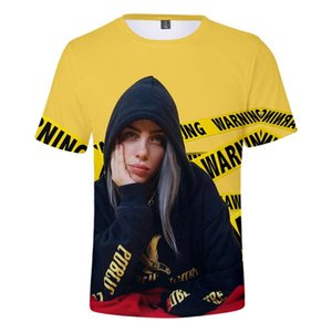 Billie Eilish New When We All Fall Asleep, Where Do We Go? 3D-T-Shirt Männer / Frauen Kurzarm T-Shirt der heißen Verkaufskleidung