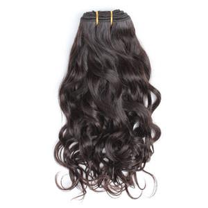 Bella Hair® Brezilyalı Saç Dokuma Bakire Doğal Renk Doğal Dalga Dalgalı Saç Uzantıları Çift Atkı 8 ~ 30inch 2pcs / lot Ücretsiz Kargo