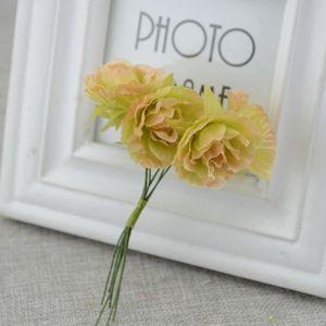 6pcs lot silk flower Rose Artificial Flowers For Wedding Car Decoration wedding bride wrist flower Pompom Wreath Decorative