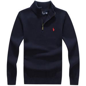 Herrenmode Winter-Strickjacke-Langarm-High Neck Zipper Männer Pullover dünner Sitz Knitting Cashmere Pullover Größe S-XXXL 5 Farbe