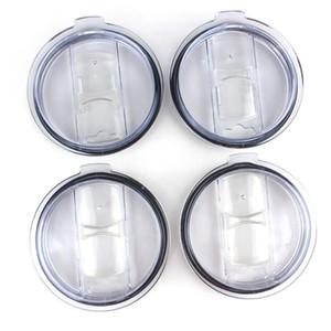 Şeffaf Plastik Bardaklar Kapak 20 30 oz Otomobil Bira Kupalar Sıçrama Dökülme Dayanıklı LXL1183-1 için Anahtarı Kapak Drinkware Kapağı Sürme